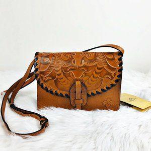 PATRICIA NASH Lanza Burnished Tooled Leather Bag